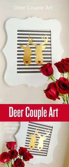 Deer makes you think of christmas, right? Love this Bambi idea for a fun a simple decor idea. Crafts are back with antlers!