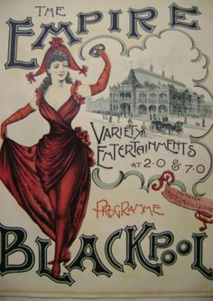 Blackpool Empire programme April 14 1899. The theatre later became the Hippodrome, then ABC