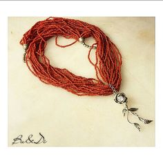 Handmade design 925 sterling silver red beads necklace