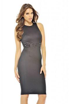 AX Paris Women's Jewel Midi Black Dress #workdresses