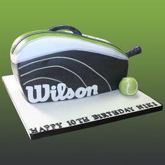Wilson Tennis Bag Cake Tennis Cupcakes, Tennis Cake, Tennis Party, Cake Pics, Cake Pictures, Unique Cakes, Creative Cakes, Wilson Tennis Bags, Tennis Pictures