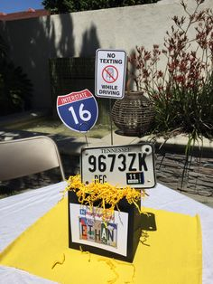 16th Birthday Party with Road Trip theme.