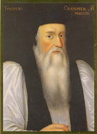 Thomas Cranmer (1489–1556), Archbishop of Canterbury, who became increasingly Calvinist throughout the 1540s. While Cranmer had been clean-shaven in his earlier years, it is said that he grew his beard to mourn the death of Henry VIII