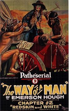 Theatrical poster for the 1924 silent serial The Way of a Man. The film is lost.