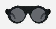 a52d96132c Kuboraum Sunglasses Mask A2 Burnt Black Leather Steampunk Sunglasses