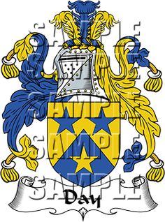Day Family Crest apparel, Day Coat of Arms gifts