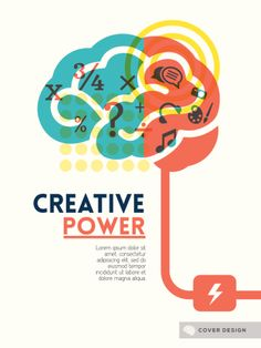 Creative brain Idea concept background design layout for poster flyer cover brochure