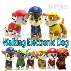Marcher Barking musique chien Robot animal électronique jouets interactifs électrique animaux en peluche chien de jouet cadeau de noël pour enfants