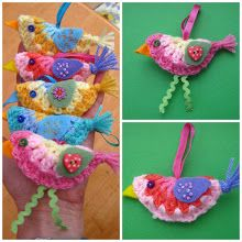 Bunny Mummy: Mini Crochet Bird....a how to