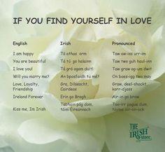 Romantic Irish Terms