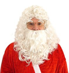 Santa clause wig and #beard - #father christmas #fancy dress costume prop,  View more on the LINK: http://www.zeppy.io/product/gb/2/231709430437/