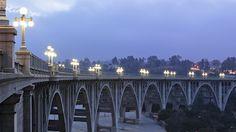 """The Colorado Street Bridge in Pasadena is also known as the """"Suicide"""" bridge."""