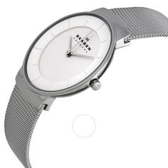 Skagen Klassik White Dial Stainless Steel Mesh Ladies Watch SKW2075 - Steel - Skagen - Watches  - Jomashop