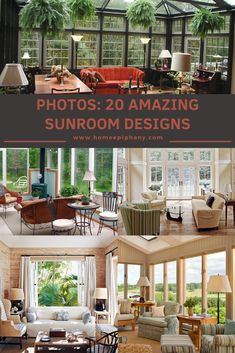It doesn't get much better than a sunroom. Here are 20 stunning design ideas for your sun room! Home Studio Setup, Home Bar Designs, Family Room Design, Outdoor Living, Outdoor Decor, Epiphany, Window Design, Other Rooms, Bars For Home