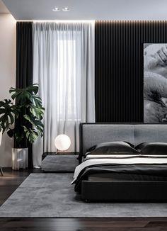 Home Interior Design - Dubrovka - Master bedroom - Master bathroom - on Behance Luxury Bedroom Design, Master Bedroom Interior, Modern Master Bedroom, Minimalist Bedroom, Contemporary Bedroom, Home Interior, Home Decor Bedroom, Bedroom Furniture, Interior Design