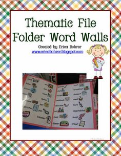 This is a simple way to create word lists for centers that would also store easily