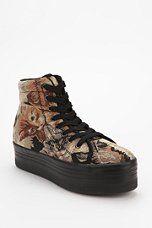 Jeffrey Campbell HOMG Cat Tapestry High-Top Flatform-Sneaker