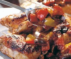 Honey-Balsamic Baked Chicken with Tomatoes, Mushrooms & Peppers Recipe