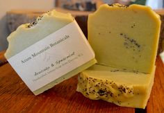 Avocado & Spearmint has avocado puree, avocado oil, and avocado butter for its skin loving properties. Poppy seeds for exfoliation and crisp Spearmint Essential Oil make this a wonderful bar for Spring. Avocado Butter, Avocado Oil, Spearmint Essential Oil, Poppy, Crisp, Seeds, Artisan, Bar, Natural
