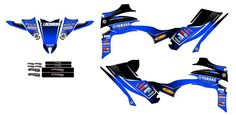 YAMAHA YFZ450R, Blue & Black,  Graphics decals!!!excellent quality