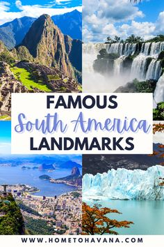 You may have heard of Machu Picchu and Christ the Redeemer, but what other famous landmarks in South America are worth a visit? What about Perito Moreno or Iguazu Falls? And landmarks like the Atacama Desert and the Salar de Uyuni Salt Flats? Check out this complete guide to the best landmarks in South America that you HAVE TO visit at least once - and spark wanderlust to inspire your next trip   Home to Havana Magical Vacations Travel, Top Travel Destinations, Dream Vacations, Vacation Trips, Travel Guides, Travel Tips, Iguazu Falls, Famous Landmarks, South America Travel