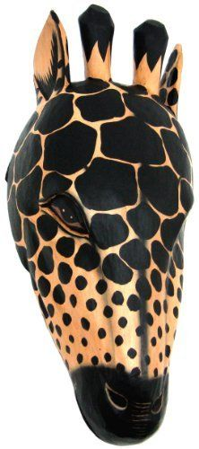 Wooden Giraffe Head Mount Wall Statue Bust by Private Label. $39.99. This awesome, hand-carved wooden replica African giraffe head wall mount is a perfect addition to any jungle themed room. The head measures 19 inches tall, 8 1/2 inches wide and 7 inches deep. The detail is excellent, and the eyes are hand-painted. This giraffe head is brand new, and makes a great gift for any giraffe lover.. Save 33%!