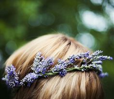 lavender crown for flower girls