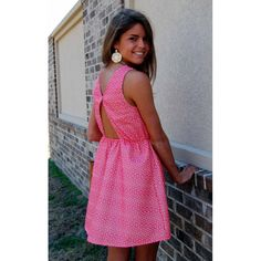 Coral Reef dress with the awesome back