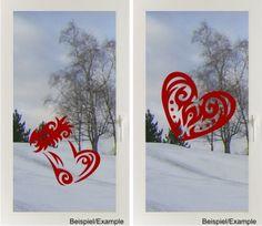 Herz oder Stiefel - Tribal - Fenster-Tattoo von DOON Germany auf DaWanda.com