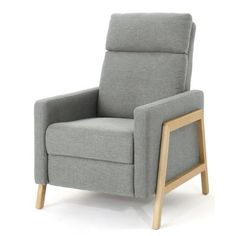 Shop for Hadrian Mid Century Modern Fabric Recliner by Christopher Knight Home. Get free delivery On EVERYTHING* Overstock - Your Online Furniture Shop! Modern Recliner, Upholstered Seating, Furniture, Modern Furniture, Chair, Contemporary Recliners, Recliner, Noble House, Furniture Design Modern