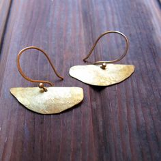 W A N D E R - Hand Crafted Brass Earrings - Artisan Tangleweeds Jewelry by Tangleweeds on Etsy https://www.etsy.com/listing/253811173/w-a-n-d-e-r-hand-crafted-brass-earrings