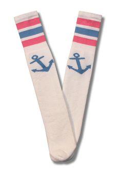 0e98963a48 White Tube Socks - Lt. Blue Logo and Lt. Blue and Lt. Pink