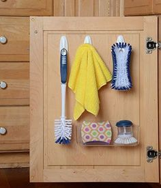 Store Cleaning Supplies on the Inside of Cabinet Doors | Easy to Grab &…