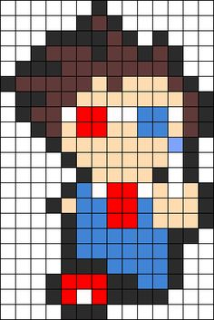 Doctor Who Tenth Doctor Perler Perler Bead Pattern / Bead Sprite