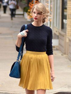 Taylor Swift will liven up any room in this sunny skirt.