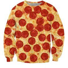 Pizza Sweatshirt ($55) ❤ liked on Polyvore featuring tops, hoodies, sweatshirts, shirts, red sweat shirt, sweatshirt shirts, shirts & tops, sweatshirts hoodies and red shirt