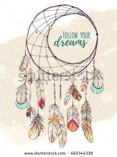 bohemian ethnic dream catcher with feathers and decor; colorful american Indian hand drawn vector illustration in sketch style; boho chic, hipster design - buy this vector on Shutterstock & find other images.Discover this and millions of other royalty-fre Bullet Journal Inspiration, Hipster Design, Art Drawings, Drawings, Feather Sketch, Dream Catcher Drawing, Art, Dream Catcher Painting, Hand Drawn Vector Illustrations