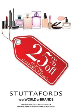 We're all about sales today at @Stuttafords_za Get 25% selected Fragrances & Beauty #BlackFriday