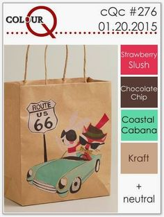 colourQ: colourQ challenge #276...Strawberry Slush, Chocolate Chip, Coastal Cabana, Kraft