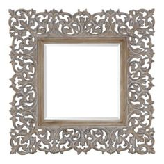 """Love This- Saw it in the store today & photo doesn't do it justice! Sienna Mirror - 45"""" Square from Z Gallerie"""