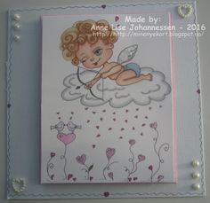 Mine Prosjekter: Love is in the air. Digital Stamps, Homemade Cards, Paper Crafting, Card Making, Love, Create, Handmade, Diy, Color