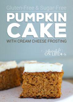 Gluten Free Sugar Free Pumpkin Cake With Cream Cheese Frosting