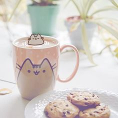 If I were tiny I would bathe in a teacup ☕ #TBT from the Pusheen x Polyvore takeover
