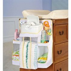 Diaper Change Station Organizer. Does it worth it? Further to sixth month babies tend to grab things around them, so this can be the solution???!!!