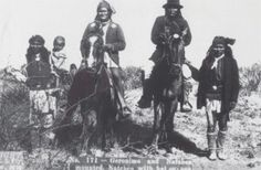 Famous Apache Chief Geronimo on Horseback.....Indian Pictures: Native American Photos of the Apache
