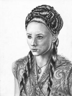 Sophie Turner pour #GameOfThrones [Copyright : Sheepys_drawings]