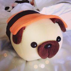 LOVE this pillow/ stuffed Animals Softies, Plushies, Sushi Love, Pug Shirt, Kawaii Plush, Cute Crafts, Dog Crafts, Cute Stuffed Animals, Pug Love