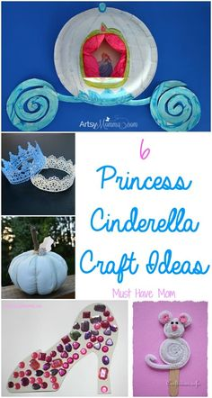 is part of Disney crafts Cinderella - Cinderella craft ideas for you, along with some other fun princess activities! Whether you are planning a Cinderella themed Cinderella Crafts, Disney Princess Crafts, Princess Activities, Disney Crafts For Kids, Fairy Tale Activities, Cinderella Birthday, Crafts For Kids To Make, Activities For Kids, Disney Activities
