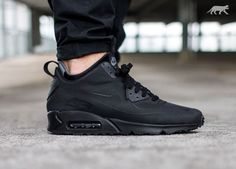 Great OTF Shot of the Nike Air Max 90 Utility Black. Available Now.  http://ift.tt/1JNlcN5