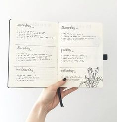 Calendario semanal Bullet Journal